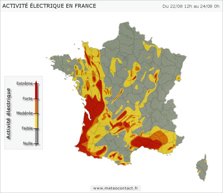Activité électrique entre le 22/08 12h et le 24/08 21h