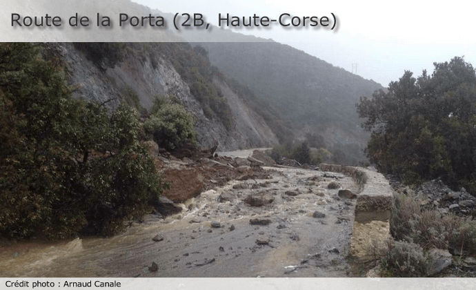 Route de la Porta en Haute-Corse le 17 mars 2015