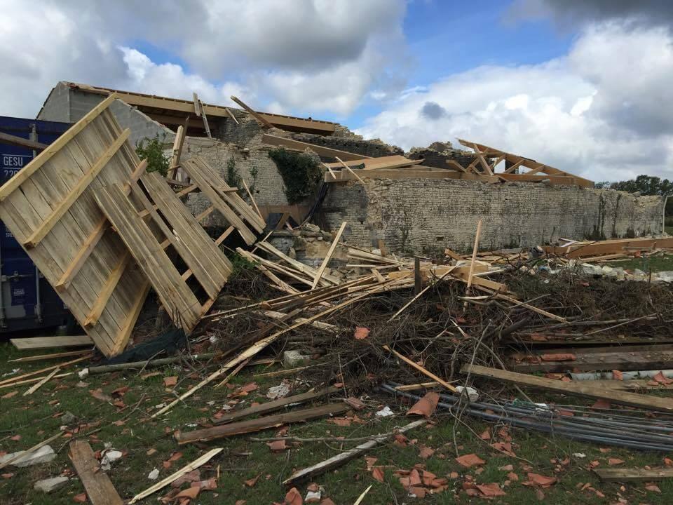 Maison complètement soufflée en Charente-Maritime