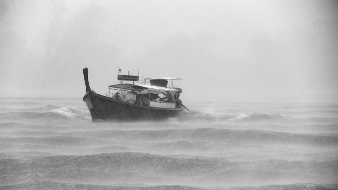 Tempête - Mer agitée, houle