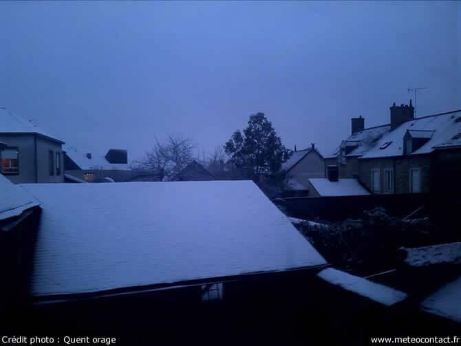 Neige - Brûlon (Sarthe) le 18 janvier 2016