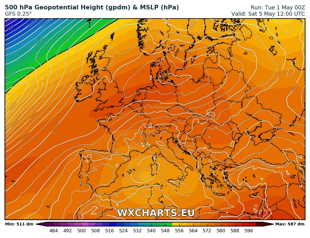 Conditions anticycloniques ce week-end