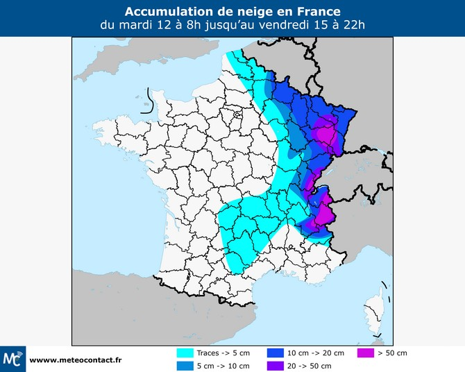 Chutes de neige jusqu'en plaine ces prochaines heures