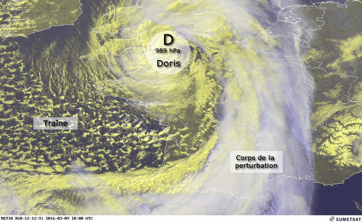 Dépression Doris le 9 mars 2016