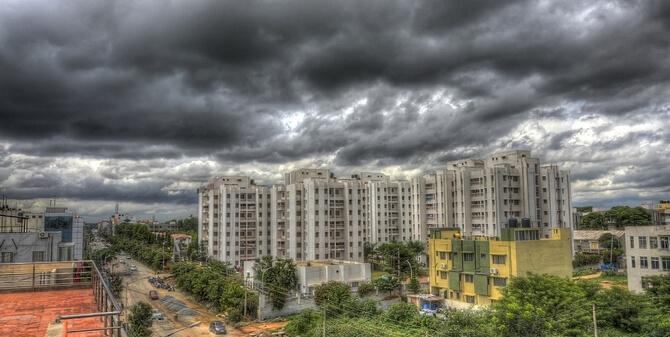 Nuages de pluie en Inde